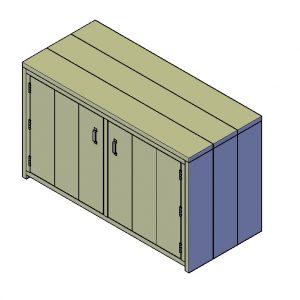 Badmeubelkast bouwtekening Type A