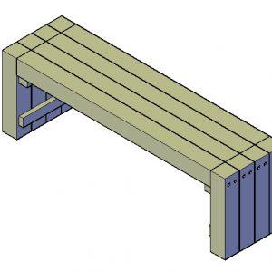 Bank bouwtekening type B