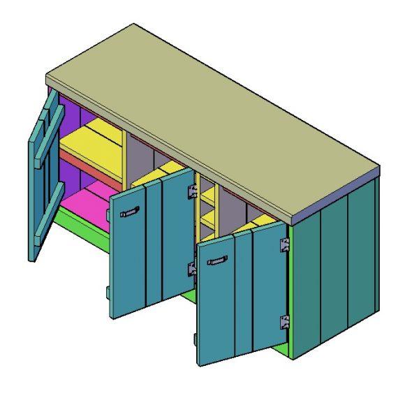 Keuken bouwtekening type B