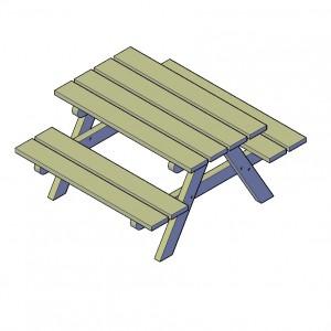 Kinderpicknicktafel bouwtekeningen
