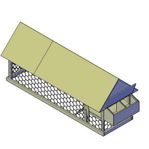 Kippenhok bouwtekening Type A