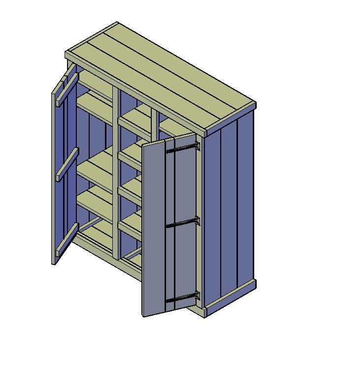 Kledingkast bouwtekening klus tekeningen for Maak een kledingkast