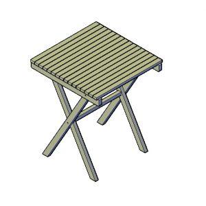 Opklapbare tafel bouwtekening