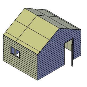 Schuur bouwtekening type A
