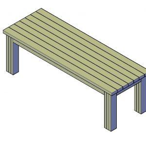 Tafel bouwtekening Type D