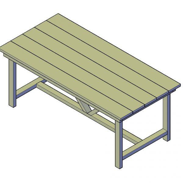 Tafel bouwtekening type H
